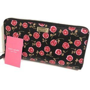 Kate Spade Laurel Way Hazy Rose Roosterred Wallet